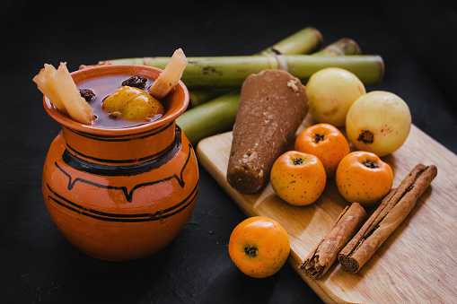 ponche navidad mexico, mexican fruits hot punch traditional for christmas