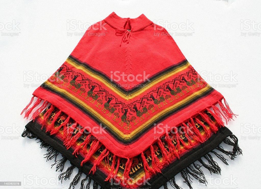 Ponchos from Peru stock photo