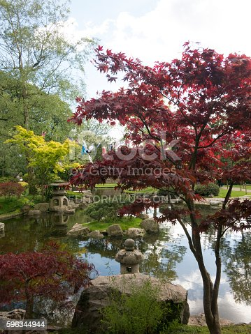 Pond And Stone Lantern In Kyoto Garden Holland Park London Stock-Fotografie und mehr Bilder von Baum