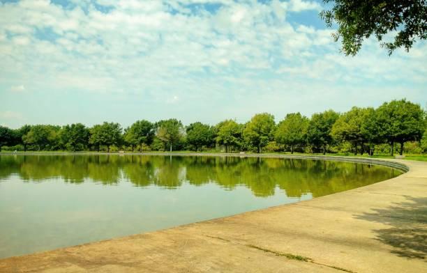 Pond at Sylvan Rodriguez Park stock photo
