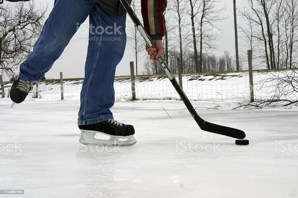 Pond Hockey royalty-free stock photo