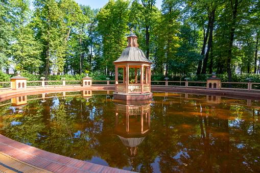 Pond in Summer garden, St. Petersburg, Russia