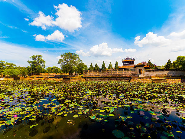 Pond in the Imperial City in Hue, Vietnam Pond by the Imperial City in Hue, Vietnam huế stock pictures, royalty-free photos & images