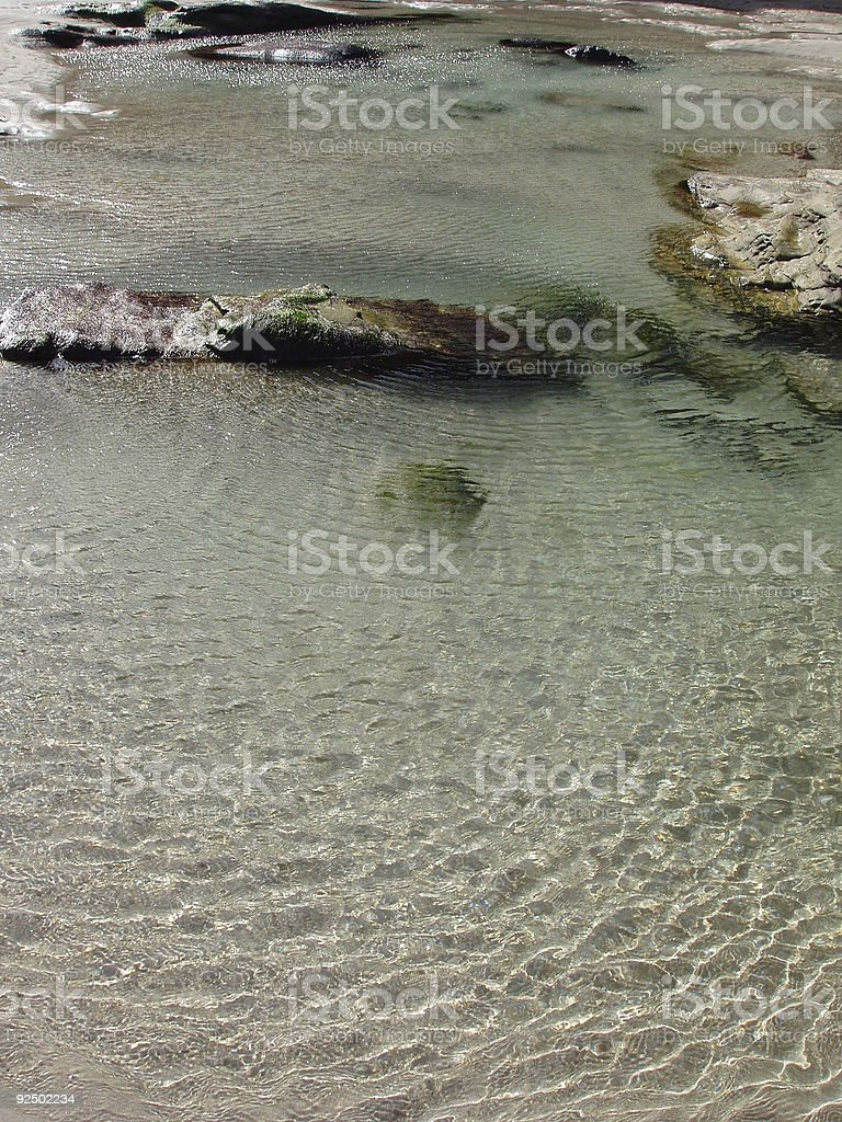 pond in the sand royalty-free stock photo