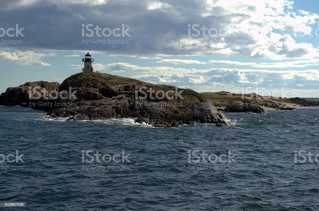 Pond Island Lighthouse stock photo