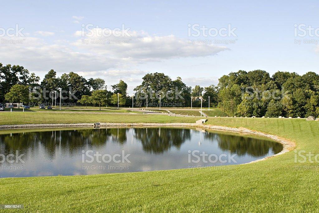 Pond Landscape stock photo
