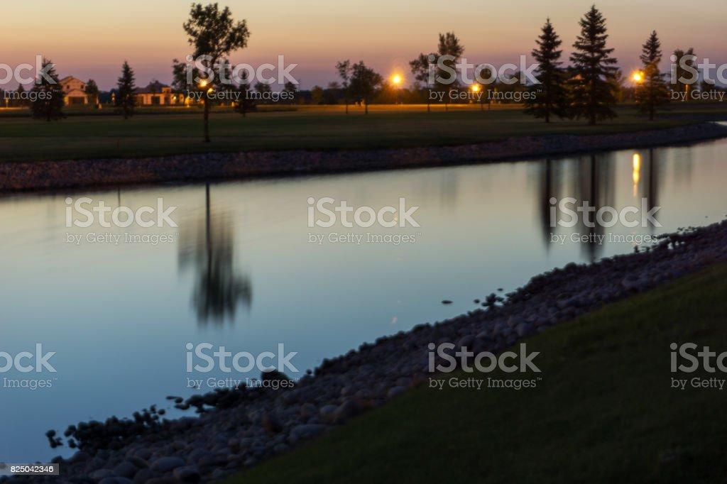 Pond Long Exposure stock photo