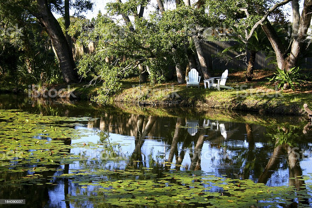 Pond - Sleepy Afternoon in Old Florida royalty-free stock photo