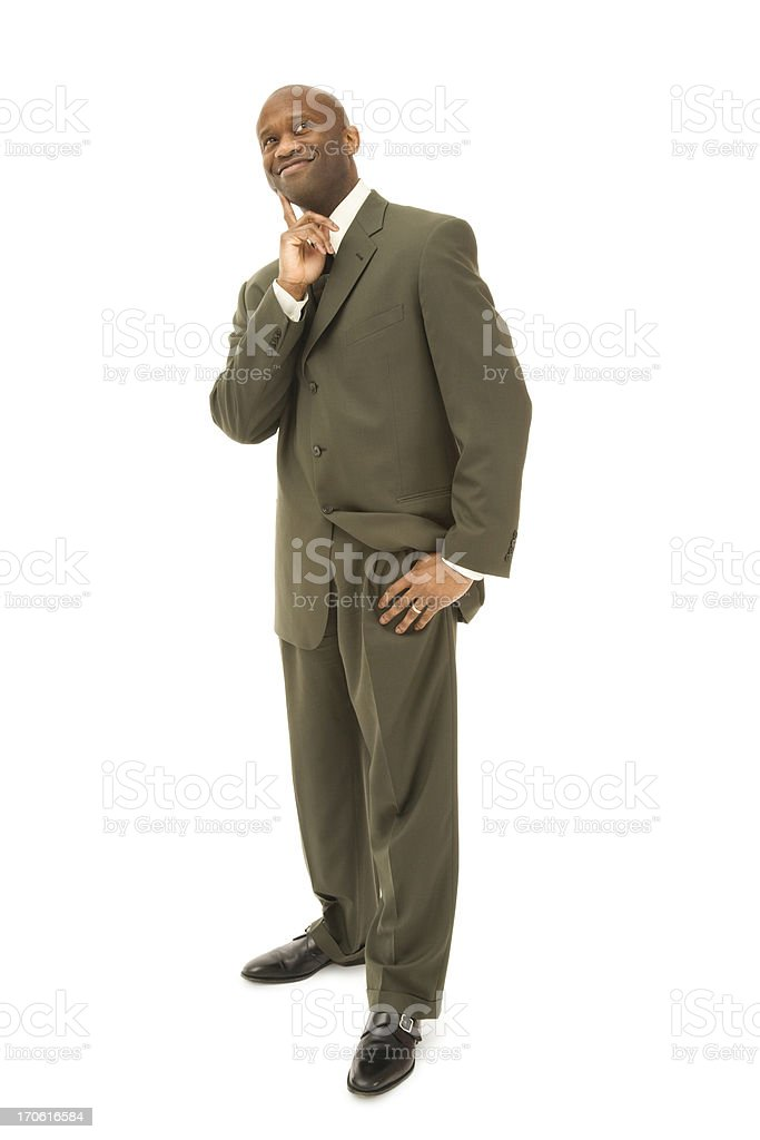 Pondering Businessman royalty-free stock photo
