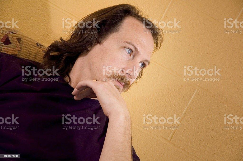 Pondering Male Portrait royalty-free stock photo