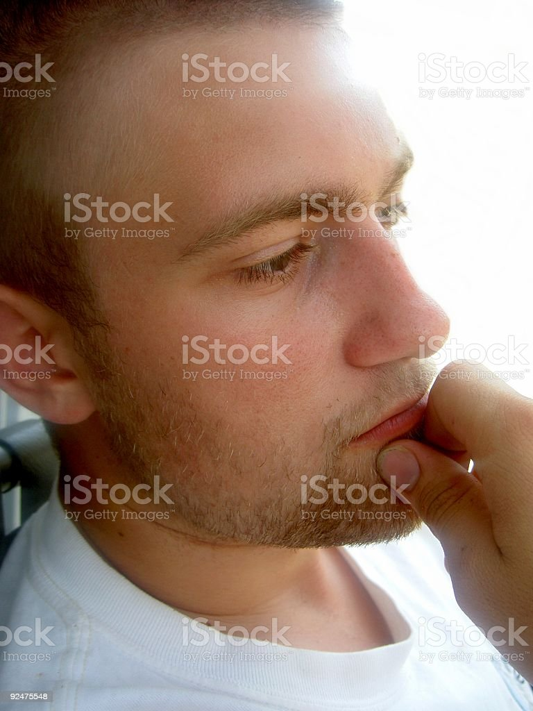 Pondering Young Man royalty-free stock photo