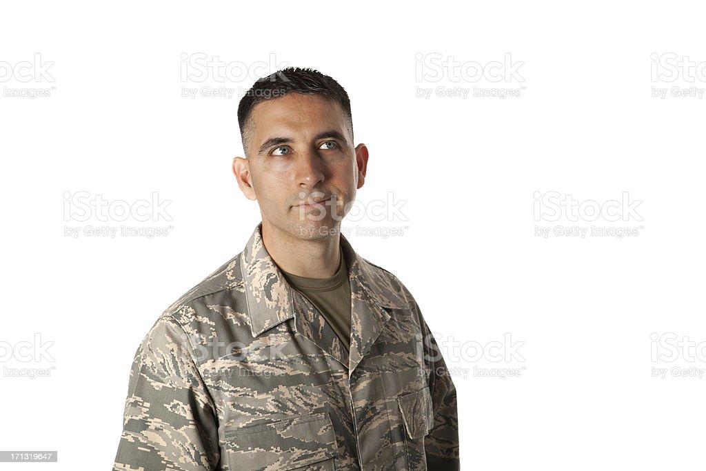 Ponderous Airman stock photo