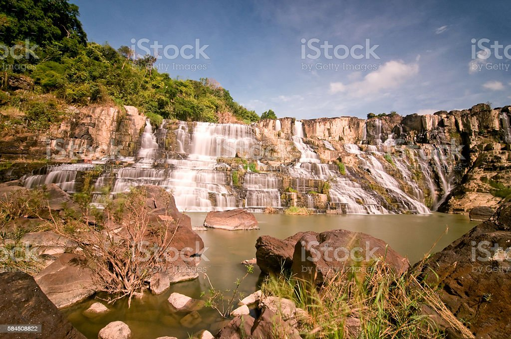 Pongour waterfall in Dalat highland, Vietnam stock photo
