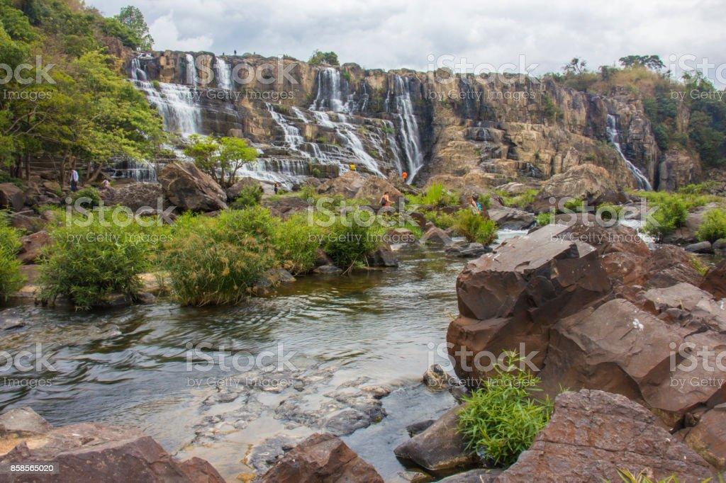 Pongour Waterfall in Dalat stock photo