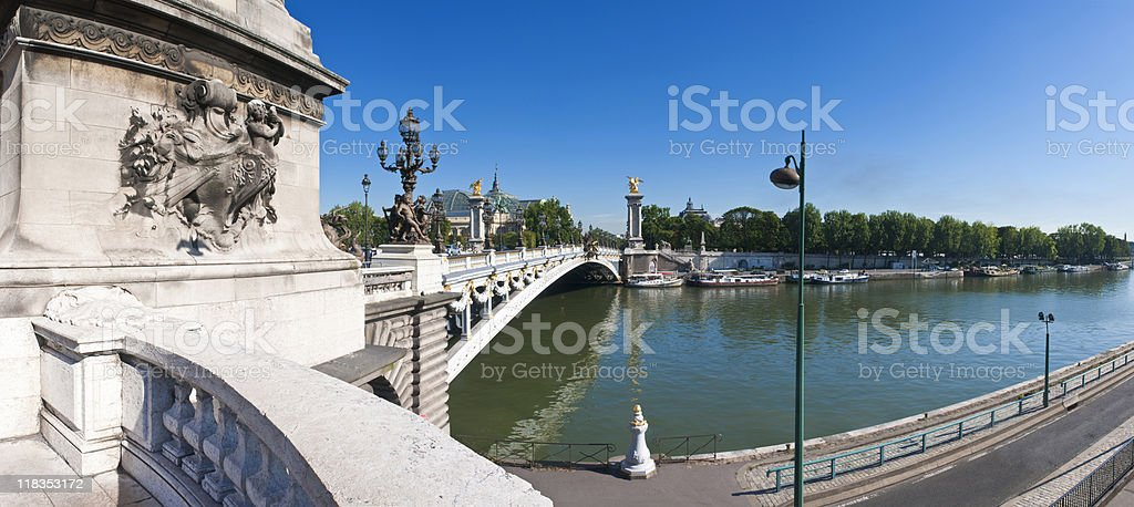 Pont Alexandre Bridge III. royalty-free stock photo