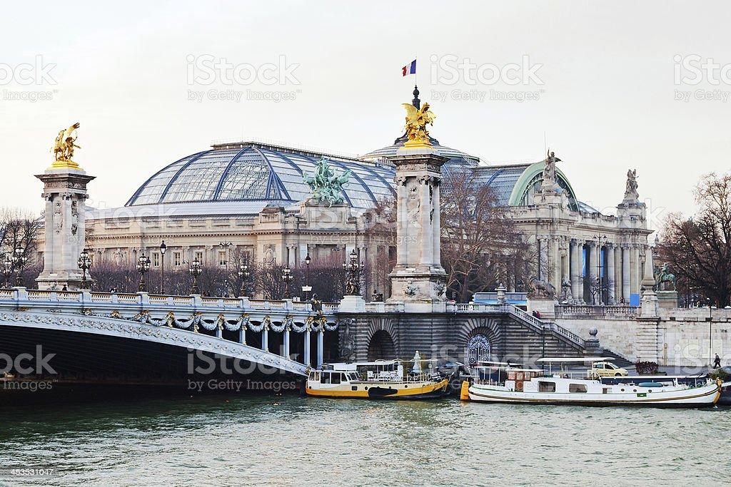 Pont Alexandre III and Grand Palais, Paris stock photo