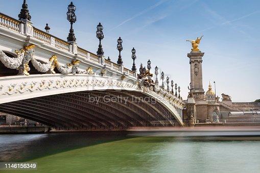 istock Pont Alexandre III and Invalides at sunrise – Paris, France 1146156349