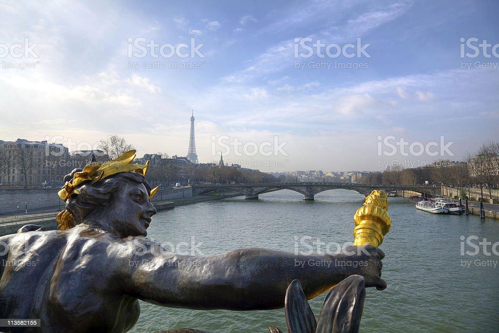 Pont Alexandre III bridge, Paris royalty-free stock photo