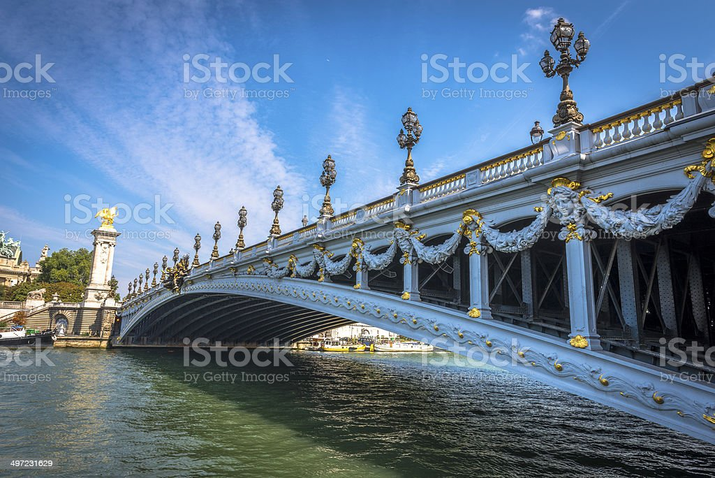 Pont Alexandre III in a clear day stock photo