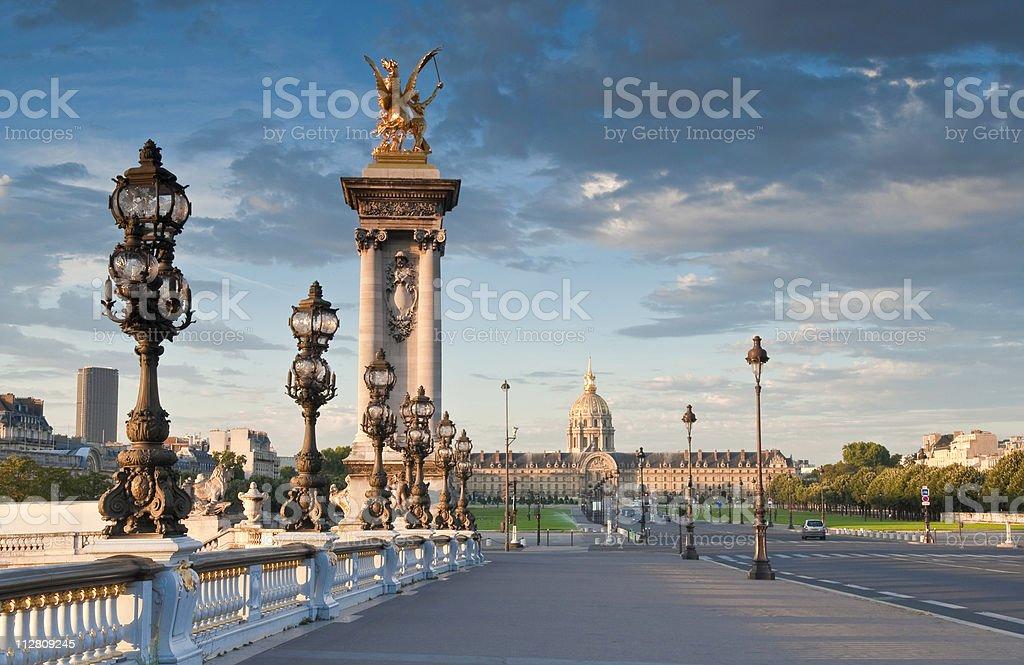 Pont Alexandre III, Paris stock photo