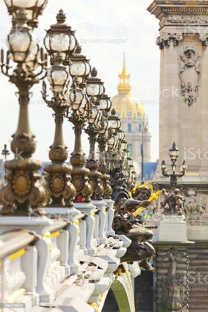 Pont Alexandre III, Paris royalty-free stock photo