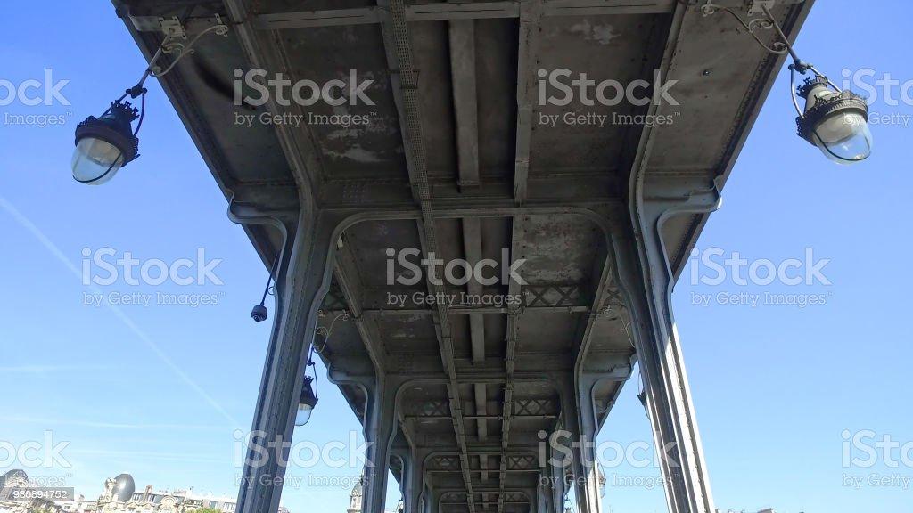 Pont De Birhakeim Pont De Passy Bridge Paris France Stock