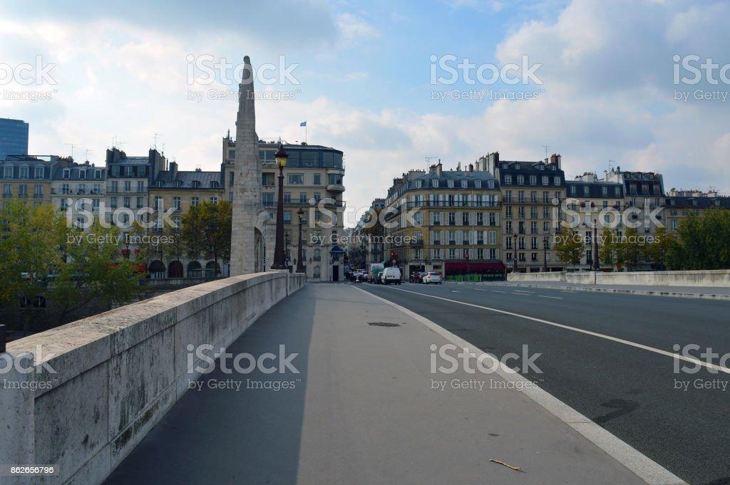 Pont de la Tournelle in Paris 5th Arrondissment stock photo