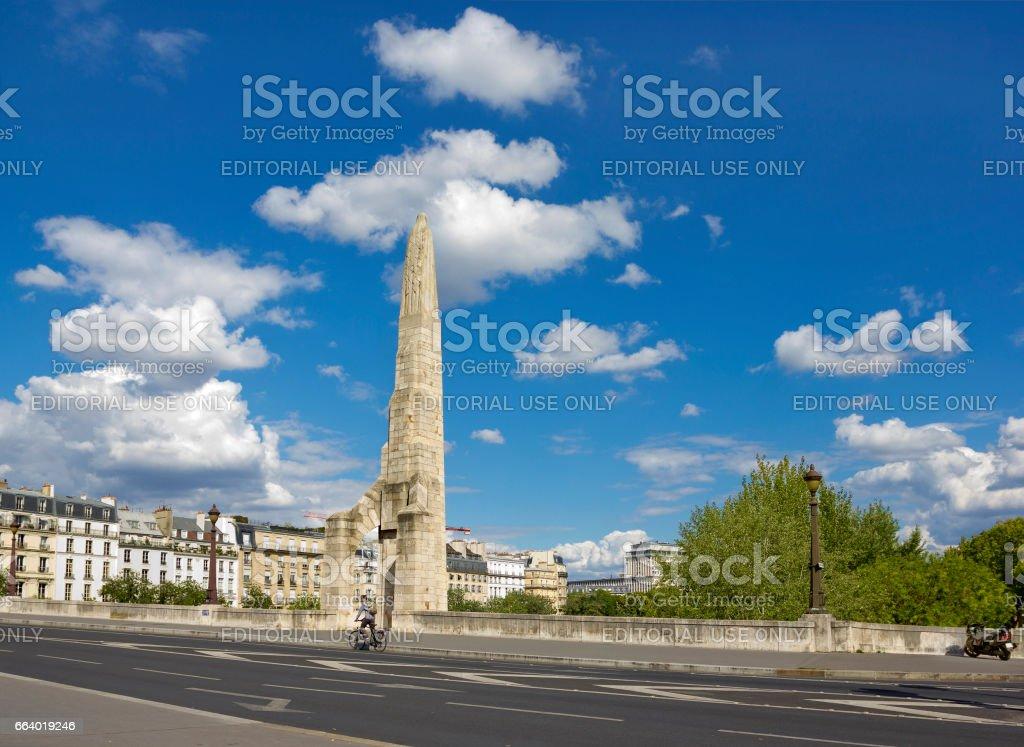 Pont de la Tournelle in Paris, France stock photo