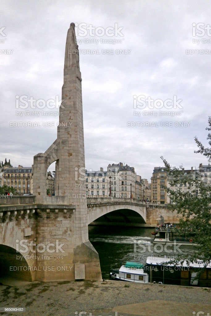 Pont de la Tournelle in Paris royalty-free stock photo
