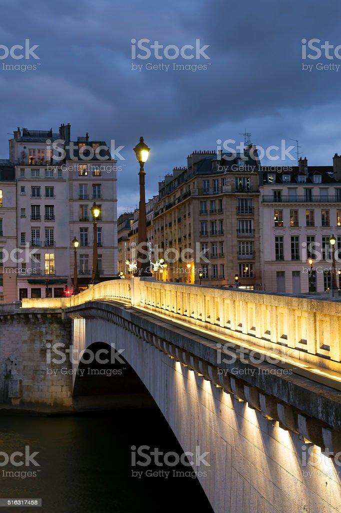 Pont de la Tournelle, Paris, France stock photo