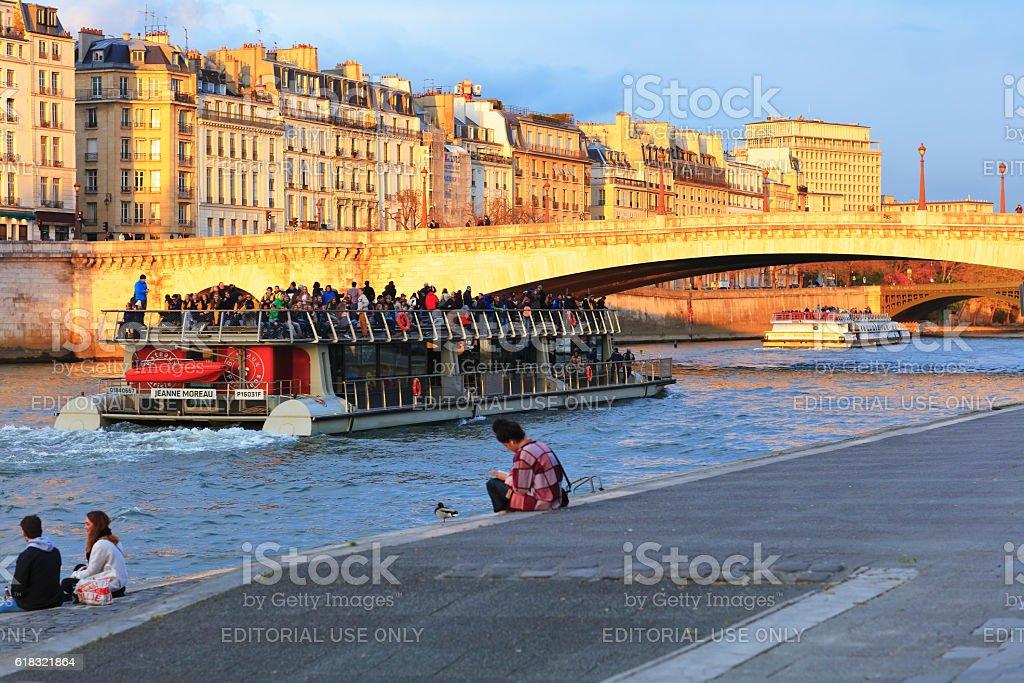 Pont de la Tournelle stock photo