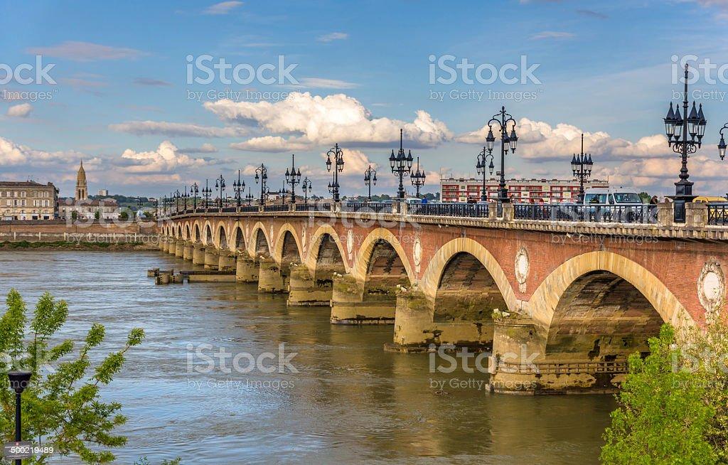 Pont de pierre à Bordeaux, Aquitaine, France - Photo