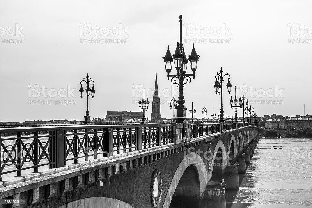 Pont de Pierre de Bordeaux, France - Photo
