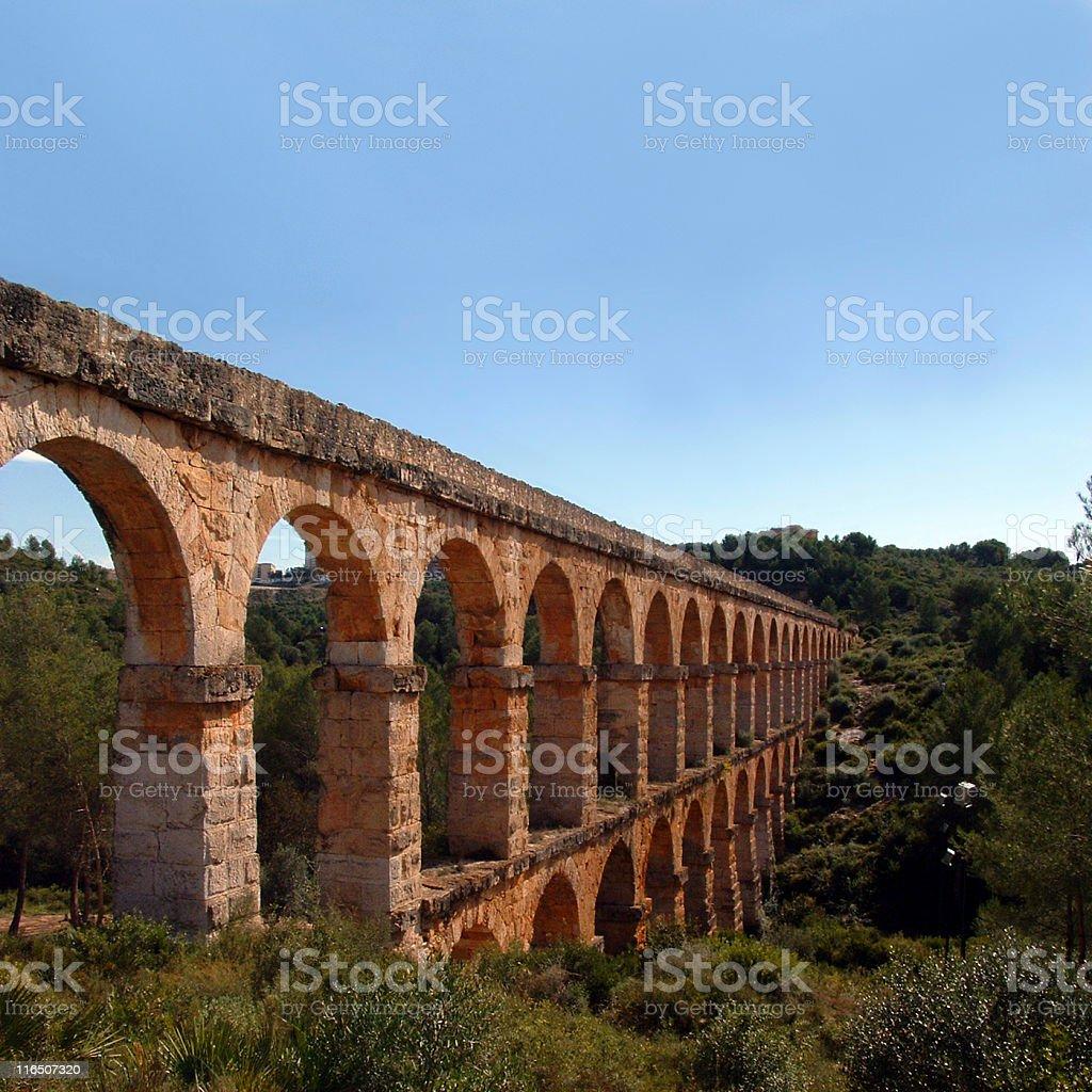 Pont del Diable in Tarragona (Spain) stock photo