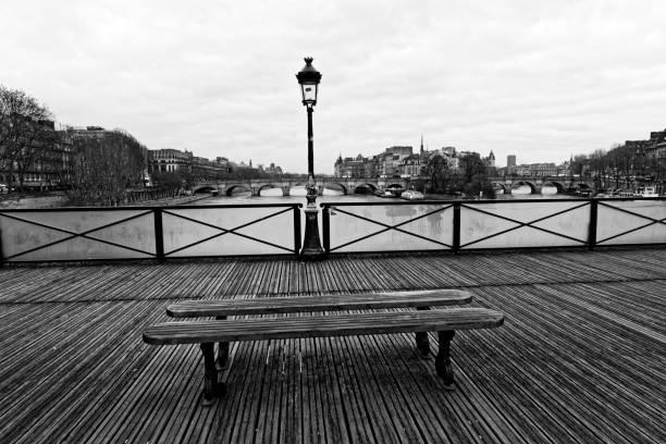 Pont des arts Bridge en noir et blanc - Photo