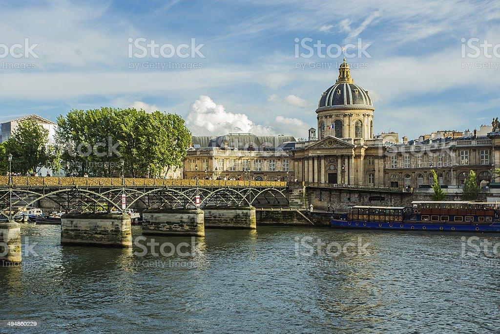Pont Des Arts in Paris , France stock photo