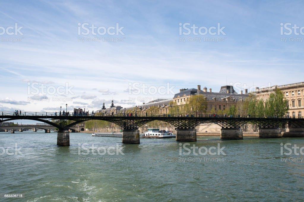 Pont des Arts over the River Seine stock photo