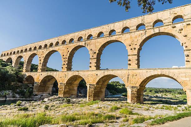 Pont du Gard, antike römische's bridge in der Provence, Frankreich – Foto