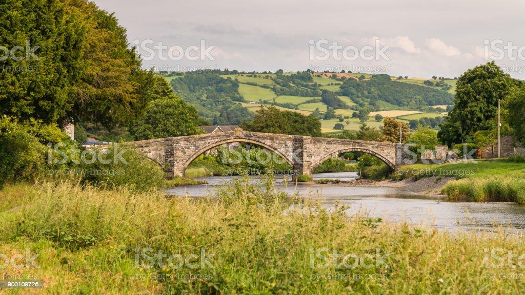 Pont Fawr in Llanrwst, Wales, UK stock photo