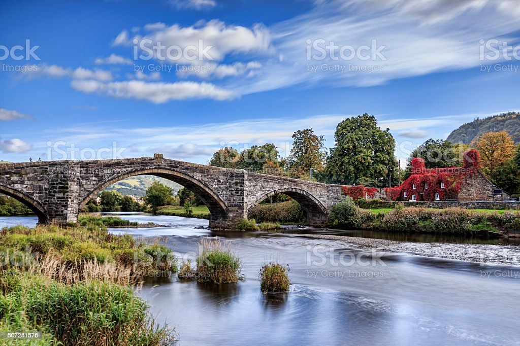 Pont Fawr stock photo