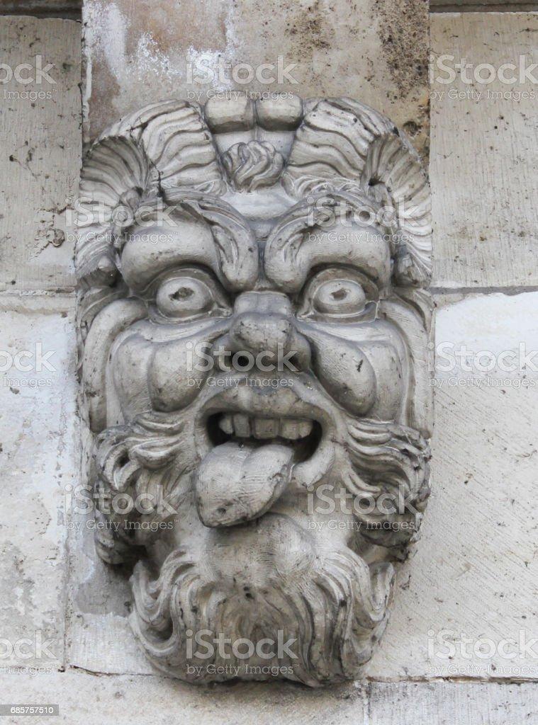 Pont Neuf Gargoyle (2) zbiór zdjęć royalty-free