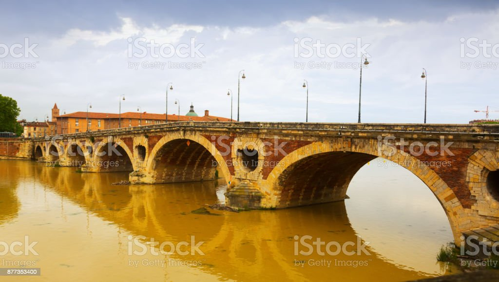 Pont Neuf  in Toulouse stock photo