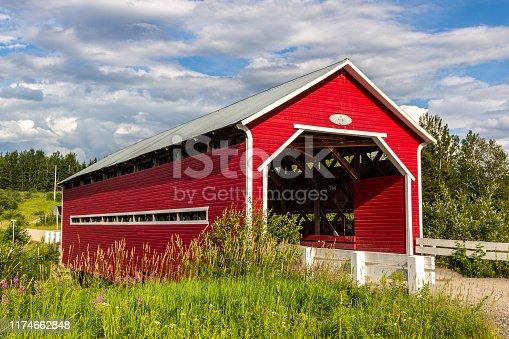 Pont Rouge, Municipality of Ste-Jeanne-d'Arc, Saguenay-Lac St-Jean, Quebec, Canada