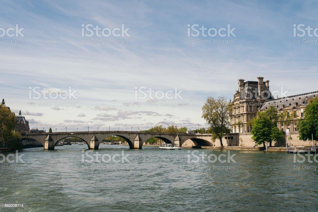 Pont Royal bridge over the River Seine stock photo