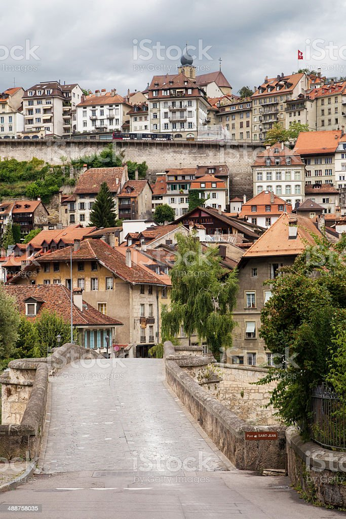 Pont Saint Jean, Fribourg stock photo