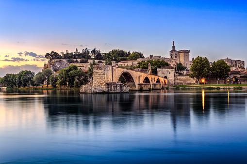 Pont Saintbenezet At Sunrise Stock Photo - Download Image Now