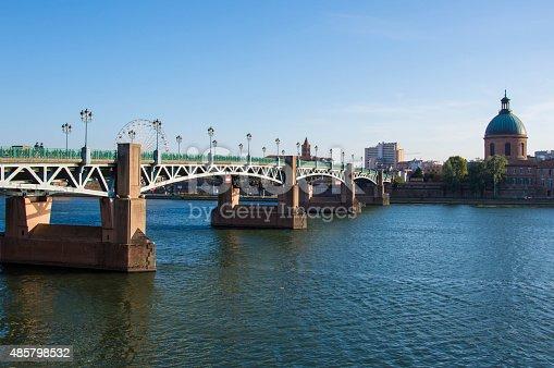 Saint-Pierre bridge over Garonne river in Toulouse
