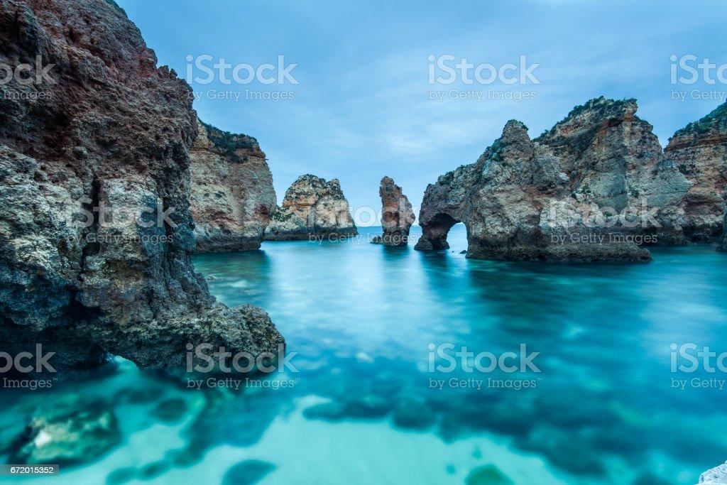 Ponta da Piedade natural landmark in Lagos, Algarve,Portugal