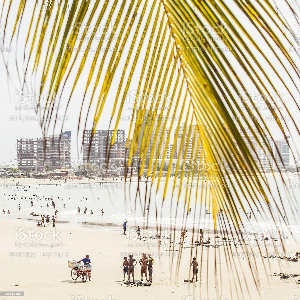 Ponta D'Areia beach. royalty-free stock photo