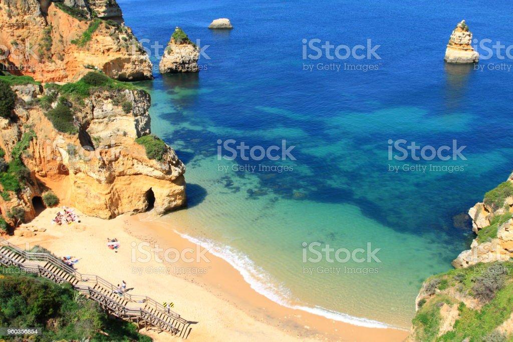 Ponta de Piedade in Lagos, Algarve coast in Portugal stock photo